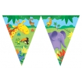 Jungle Buddies Party Flag Banner